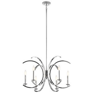 Cassadee Chrome Six-Light Chandelier