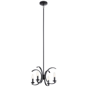 Cassadee Black Four-Light Convertible Pendant