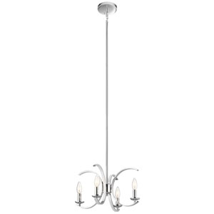 Cassadee Chrome Four-Light Convertible Pendant