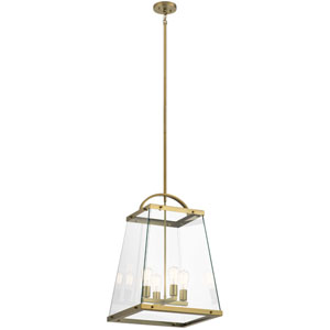 Darton Brushed Natural Brass Four-Light Pendant