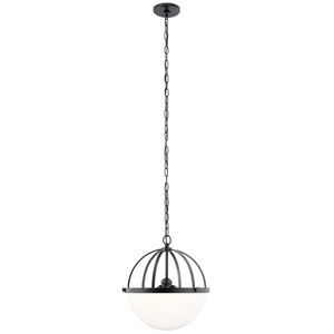 Edmar Black Three-Light Pendant