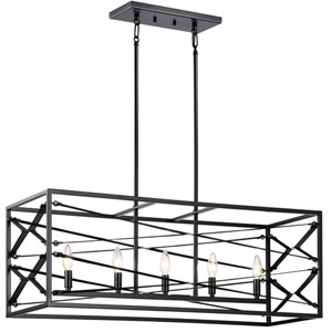 Sevan Black Five-Light Chandelier