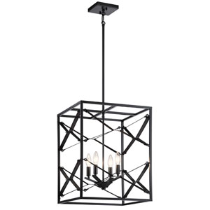 Sevan Black Four-Light Pendant