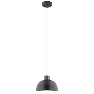 Zailey Black Nine-Inch One-Light Pendant