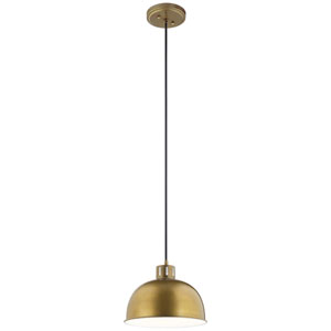 Zailey Natural Brass 12-Inch One-Light Pendant