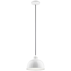 Zailey White12-Inch  One-Light Pendant