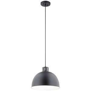 Zailey Black 13-Inch One-Light Pendant