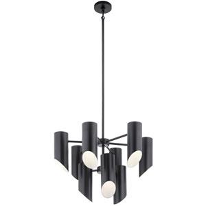 Trentino Black Nine-Light Chandelier