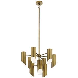Trentino Natural Brass Nine-Light Chandelier