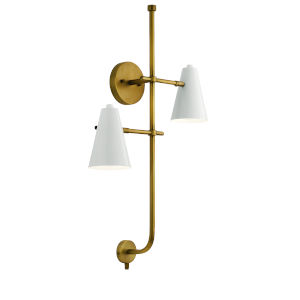 Sylvia White Two-Light Wall Sconce