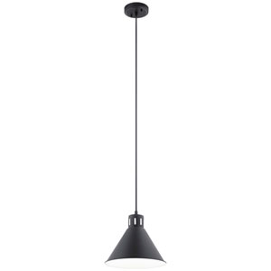 Zailey Black One-Light Pendant