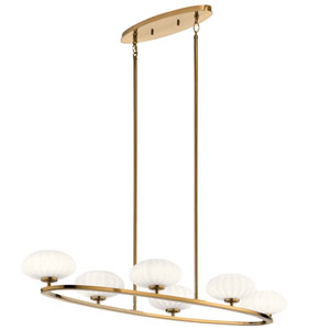 Pim Fox Gold 18-Inch Six-Light Chandelier