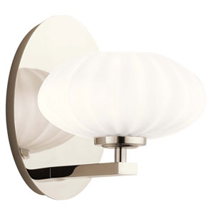 Pim Polished Nickel One-Light Wall Sconce