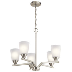 Skagos Brushed Nickel Five-Light Chandelier
