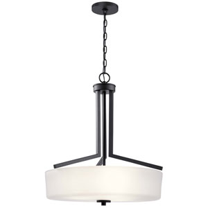Skagos Black Three-Light Pendant