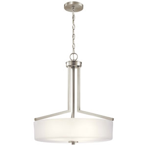 Skagos Brushed Nickel Three-Light Pendant