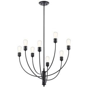 Hatton Black Eight-Light Chandelier
