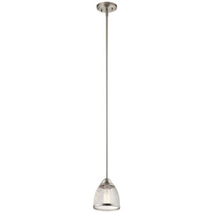 Voclain Brushed Nickel One-Light Mini Pendant