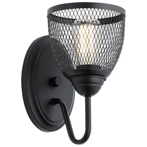 Voclain Black One-Light Wall Sconce