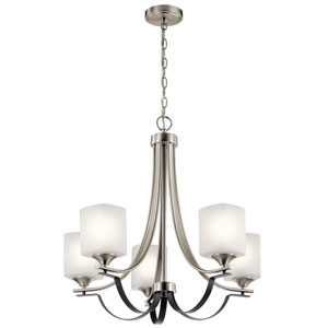 Tula Brushed Nickel Five-Light Chandelier