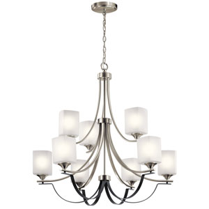 Tula Brushed Nickel Nine-Light Chandelier
