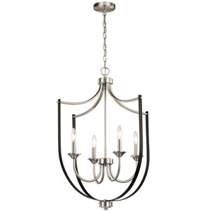 Tula Brushed Nickel Four-Light Chandelier