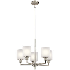 Lynn Haven Brushed Nickel Five-Light Chandelier