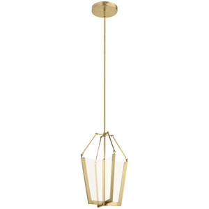 Calters Champagne Gold 14-Inch LED Pendant