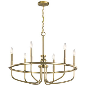 Capitol Hill Classic Bronze Six-Light Chandelier