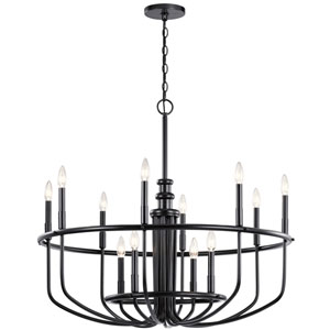 Capitol Hill Black 12-Light Chandelier