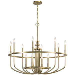 Capitol Hill Classic Bronze 12-Light Chandelier