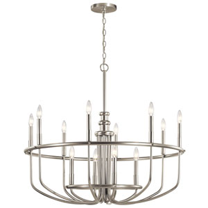 Capitol Hill Brushed Nickel 12-Light Chandelier