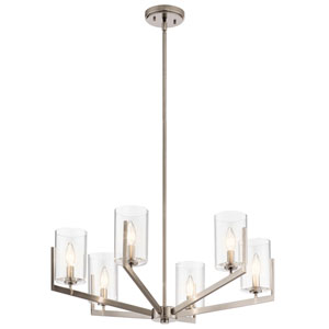Nye Classic Pewter Six-Light Chandelier
