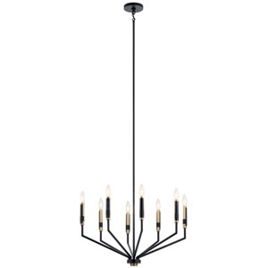 Armand Black Eight-Light Chandelier