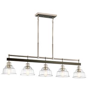 Eastmont Polished Nickel Eight-Inch Five-Light Chandelier