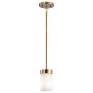Ciona Brushed Natural Brass One-Light Mini Pendant