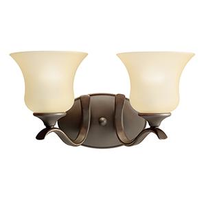 Wedgeport Olde Bronze Two-Light Energy Star LED Bath Vanity