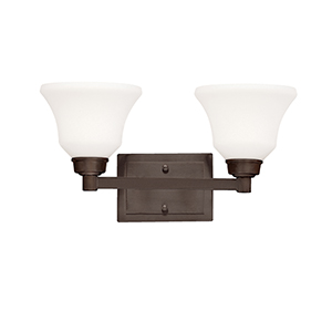 Langford Olde Bronze Two-Light Energy Star LED Bath Vanity