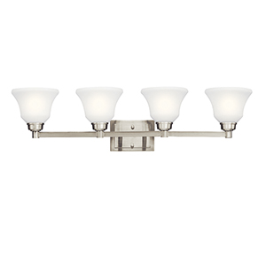 Langford Brushed Nickel Four-Light Energy Star LED Bath Vanity