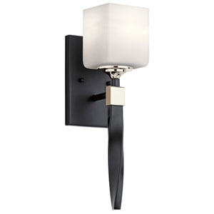 Marette Black One-Light Wall Sconce