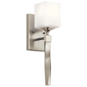 Marette Brushed Nickel One-Light Wall Sconce