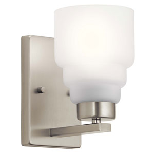 Vionnet Brushed Nickel One-Light Wall Sconce