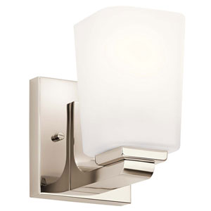 Roehm Polished Nickel One-Light Wall Sconce
