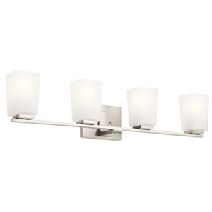 Roehm Brushed Nickel Four-Light Bath Vanity