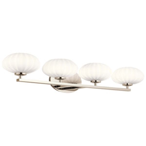 Pim Polished Nickel Four-Light Bath Vanity