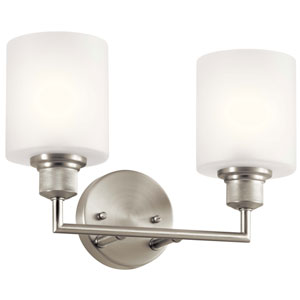 Lynn Haven Brushed Nickel Two-Light Bath Vanity