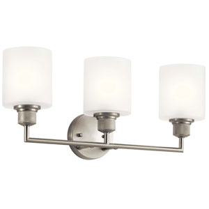 Lynn Haven Brushed Nickel Three-Light Bath Vanity