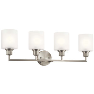 Lynn Haven Brushed Nickel Four-Light Bath Vanity