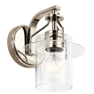 Everett Polished Nickel One-Light Wall Sconce