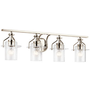 Everett Polished Nickel Four-Light Bath Vanity